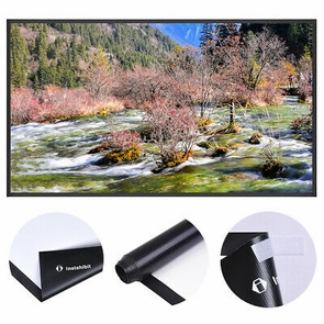 "Instahibit® 100"" 16:9 Portable Projector Screen Matte White HD Front Projection"