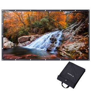 """Instahibit® 16:9 Foldable Projection Screen 4K 3D PVC Leather Material 100"""""""