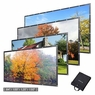 """Instahibit® 16:9 Foldable Projection Screen 4K 3D PVC Leather Material 84"""""""