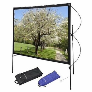 "Instahibit® 77"" 16:9 Portable Projector Screen Foldable Frame Stand Outdoor Home"
