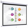 "Instahibit® Home Movie Pull Down Projector Projection Screen Size Manual, 120"" 4:3"