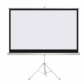 """Instahibit® Home Movie Pull Down Projector Projection Screen Size Tripod, 120"""" 4:3"""