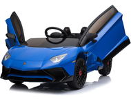 Magic Cars® 2 Seater Kids Ride On RC Lamborghini Aventador Car Roadster W/Lambo Doors & Leather Seat