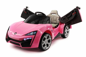 Lykan Hypersport 12 Volt Pink Ride On Car Fast & Furious W/Magic Cars® Parental Control Exotic Sports Car