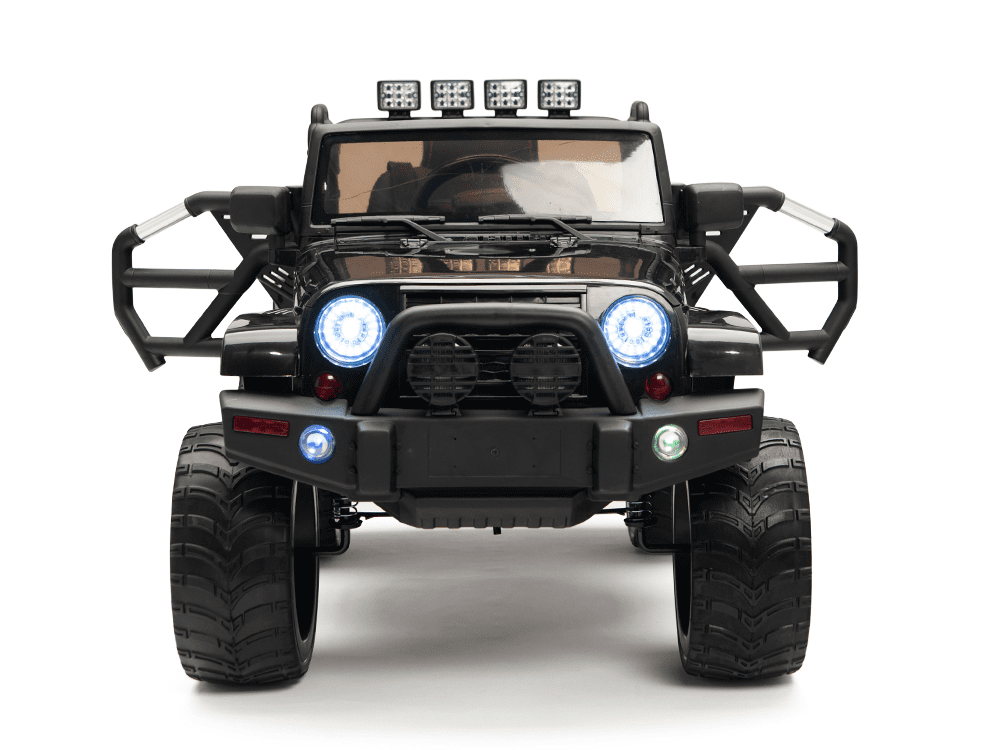 Magic Cars Real Rubber Tires Big Wheel Jeep Style Remote Control Electric Ride On Truck For Kids
