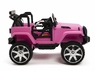 Magic Cars® Real Rubber Tires Big Wheel Jeep Style Remote Control Electric Ride On Truck For Kids W/Custom License Plate