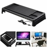 Monitor Rise Stand Desktop Storage Organizer Computer Laptop Office w/ USB Ports