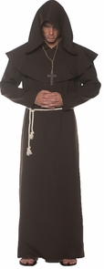 Monk Robe Adult Brown Xxl Costume