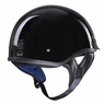 Motorcycle Half Helmet DOT Open Face Chopper Cruiser Bike Skull Cap Size S-XL High Gloss Black & S