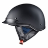 Motorcycle Half Helmet DOT Open Face Chopper Cruiser Bike Skull Cap Size S-XL Matt Black & M