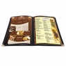 "Non-Toxic Menu Covers Cafe Restaurant Club DIY Fold Book Style 8.5x11 8.5x14"" 26MNC003-1V4P8X14-06, 8.5x14"" 20pcs 4 Page 8 View Black"