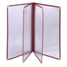 """Non-Toxic Menu Covers Cafe Restaurant Club DIY Fold Book Style 8.5x11 8.5x14"""" 8.5x11"""" 20pcs 4 Page 8 View Wine"""