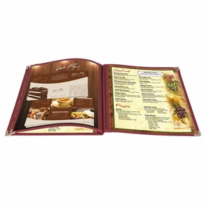 "Non-Toxic Menu Covers Cafe Restaurant Club DIY Fold Book Style 8.5x11 8.5x14"" 8.5x11"" 30pcs 3 Page 6 View Wine"