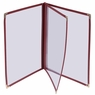 """Non-Toxic Menu Covers Cafe Restaurant Club DIY Fold Book Style 8.5x11 8.5x14"""" 8.5x11"""" 30pcs 3 Page 6 View Wine"""