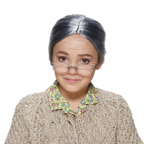 Old Lady Child Wig Costume