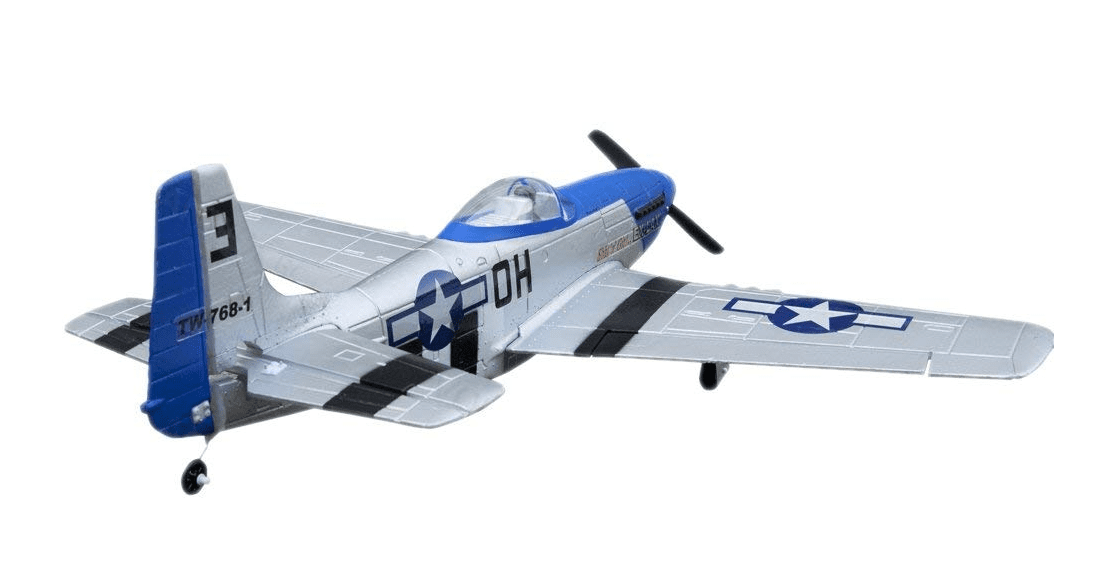 P51 Mustang Ready To Fly RC Airplane - 4 Channel Remote Control