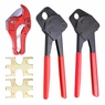 "PEX Copper Crimp Ring Supply Crimping Plumbing Clamp Tool Gonogo Gauge 1/2""&3/4""+Tube Cutter"