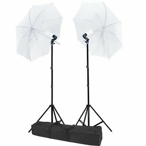 Photo Lighting Umbrella Photography +45w Blubs Light Stand Kit Live Stream