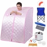 Portable 2L Home Steam Sauna Spa Full Body Slimming Loss Weight Detox. Pink