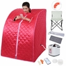 Portable 2L Home Steam Sauna Spa Full Body Slimming Loss Weight Detox. Red
