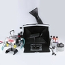 Portable Airbrush Spray Booth Kit w/ Hose Pro Paint Set For Toy Model Part Hobby