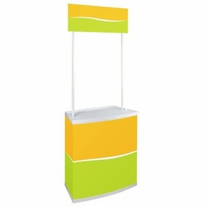 Portable Promotion Counter Table Booth Kiosk Trade Show Display Banner Stand