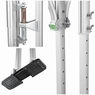"""PRE-SALE 50"""" - 64"""" Aluminum Drywall Stilts Adjustable for Painter Taping Silver"""