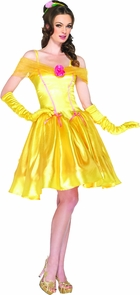 Princess Belle Adult Yellow Md Costume