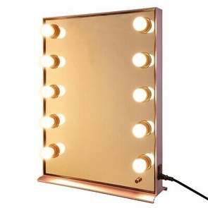 Rose Gold Hollywood Makeup Vanity Mirror with Light Dimmer Stage Beauty Mirror