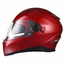 Safety DOT Motorcycle Full Face Helmet Dual Visor Sun Shield Racing Sports S-XL Size XL & Red