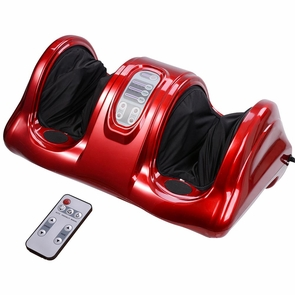 Shiatsu Foot Massager Kneading Rolling Calf Ankle Leg Health Care Parent Gift Red