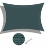 Sun Shade Sail Outdoor Canopy Top Cover UV Block Triangle Square Rectangle Green 1 PC Rectangle, 13'x19'-Green