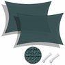 Sun Shade Sail Outdoor Canopy Top Cover UV Block Triangle Square Rectangle Green 2 PCS Rectangle, 13'x19'-Green
