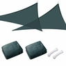 Sun Shade Sail Outdoor Canopy Top Cover UV Block Triangle Square Rectangle Green 2 PCS Triangle, 20'x20'x20'-Green
