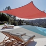 Sun Shade Sail Outdoor Canopy Top Cover UV Block Triangle Square Rectangle Red 2 PCS Square, 18'x18'-Red