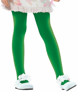 Tights Child Grn Xlg 11 To 13 Costume
