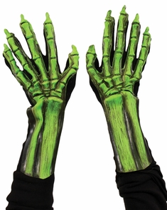 Uv Green Skeleton Hands Costume