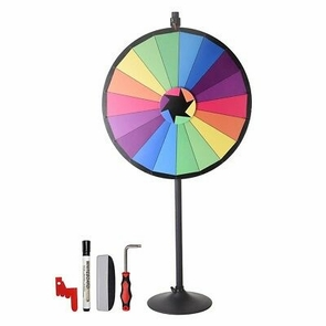 "WinSpin® 36"" 18 Slots Largest Prize Wheel w/ Stand Fortune Spin Game Carnival"