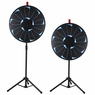 "WinSpin® Tripod Prize Wheel Fortune Spin Game Tradeshow Mall Carnival Lottery 24"" Bright Black"
