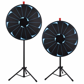 "WinSpin® Tripod Prize Wheel Fortune Spin Game Tradeshow Mall Carnival Lottery 30"" Bright Black"