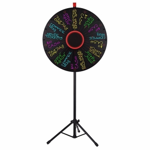 """WinSpin® Tripod Prize Wheel Fortune Spin Game Tradeshow Mall Carnival Lottery 30"""" LED Light Black"""