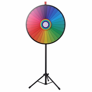 """WinSpin® Tripod Prize Wheel Fortune Spin Game Tradeshow Mall Carnival Lottery 30"""" Rainbow"""