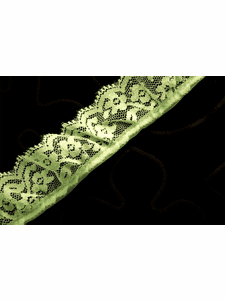 """1 1/2"""" Light Green Floral Ruffled Lace Trim #275"""
