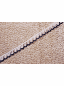 """1/2"""" White Navy Scalloped Lace Trim #1016"""