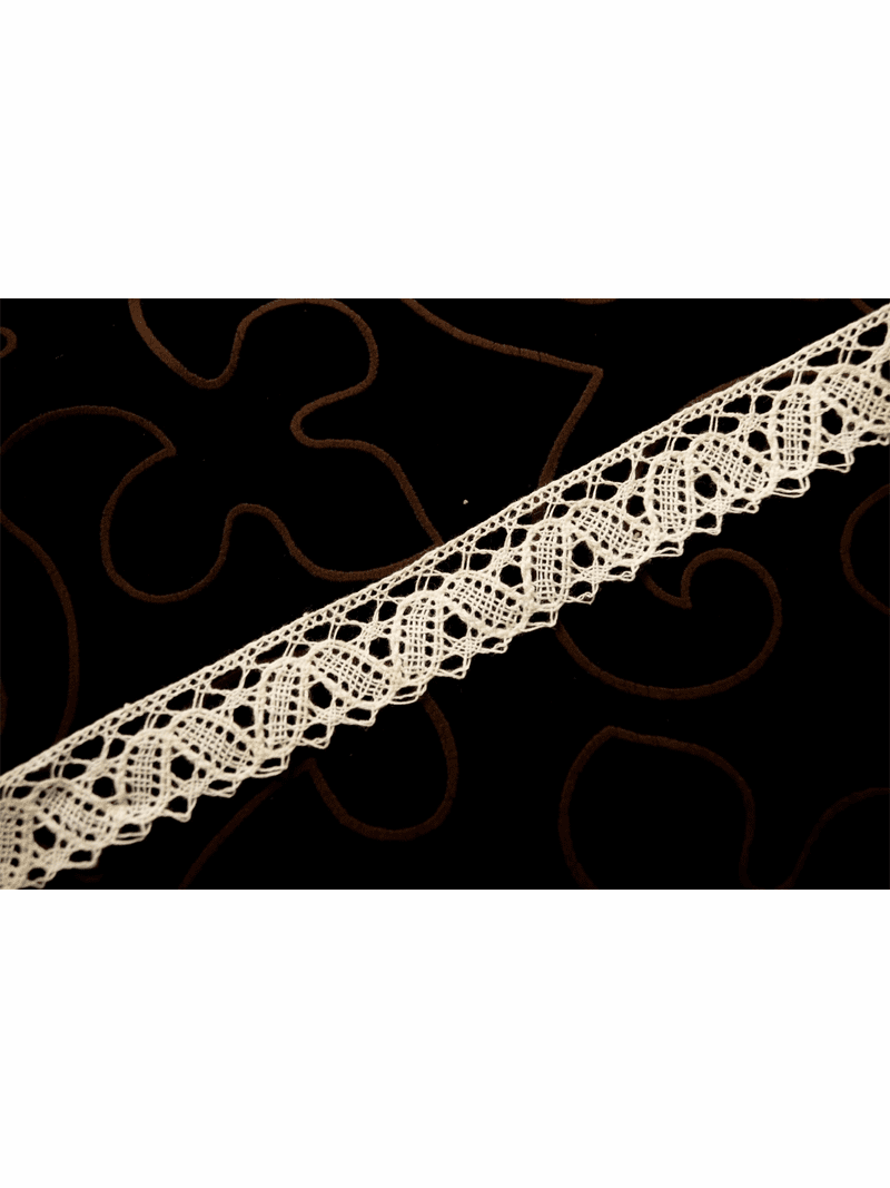 """1"""" Natural White """"Made in Germany"""" Pure Cotton Lace Trim #1212"""