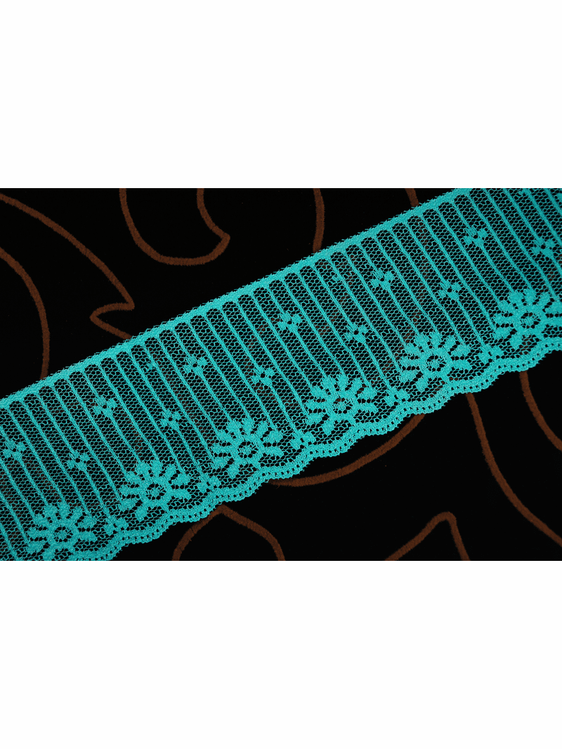 """2 1/2"""" Teal Green Lace Trim #lace-523"""