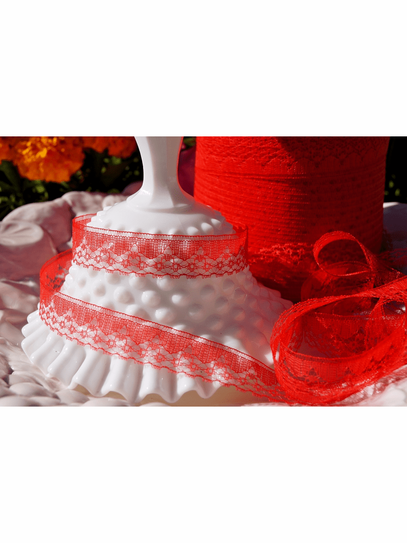 """3/4"""" Red Lace Trim"""