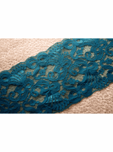 """5 1/4"""" Teal Galloon Lace Trim #1010"""