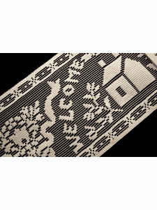 """5"""" Off White Welcome Friends Lace Trim #265"""