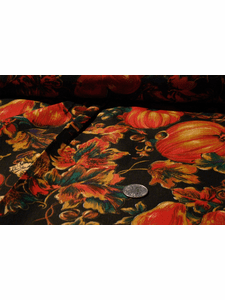 Autumn leaves Pumpkin Patch Print Fabric #NV-201